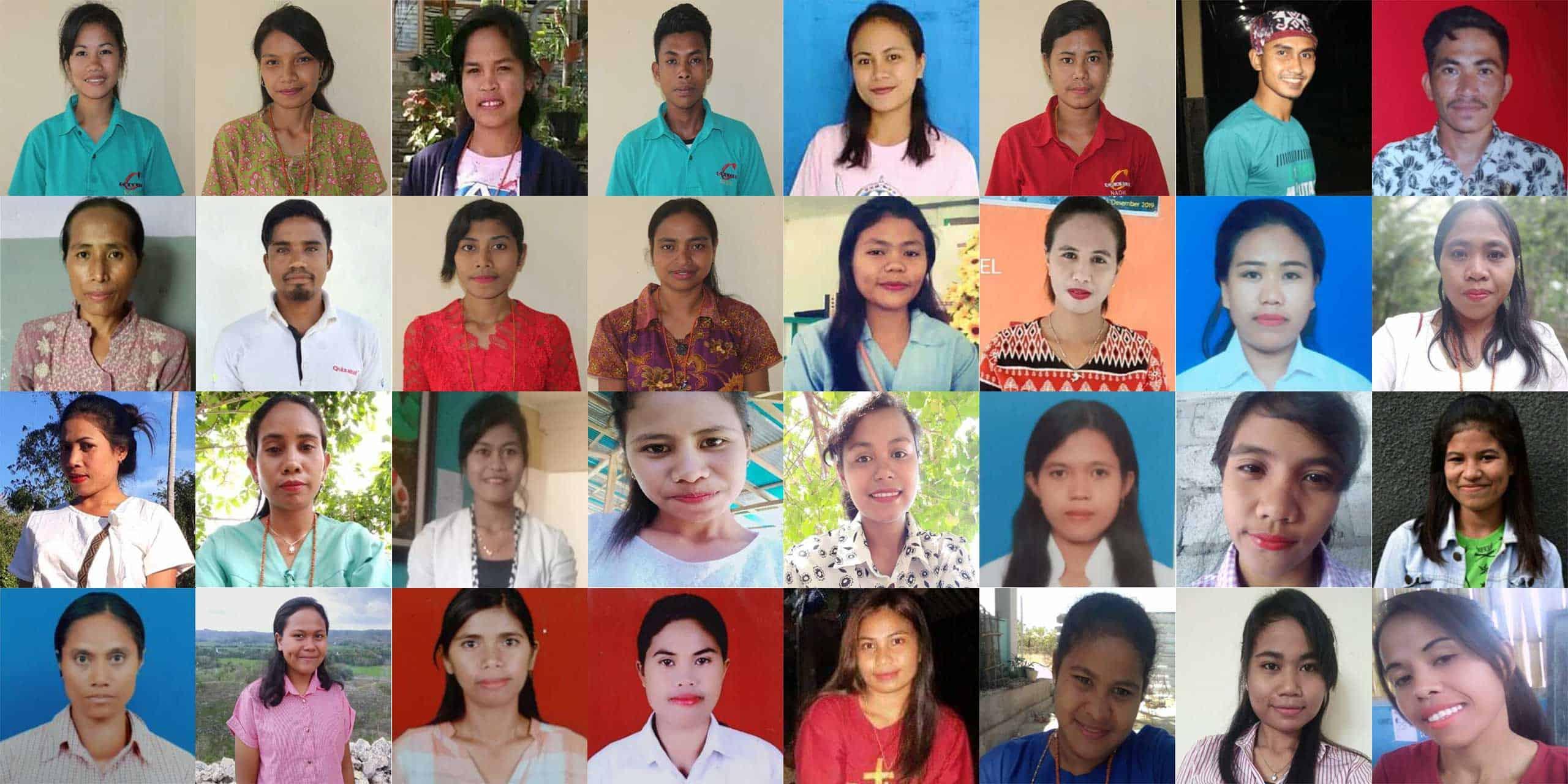 Une photo des 37 enseignants worikin dans les écoles rurales de Sumba