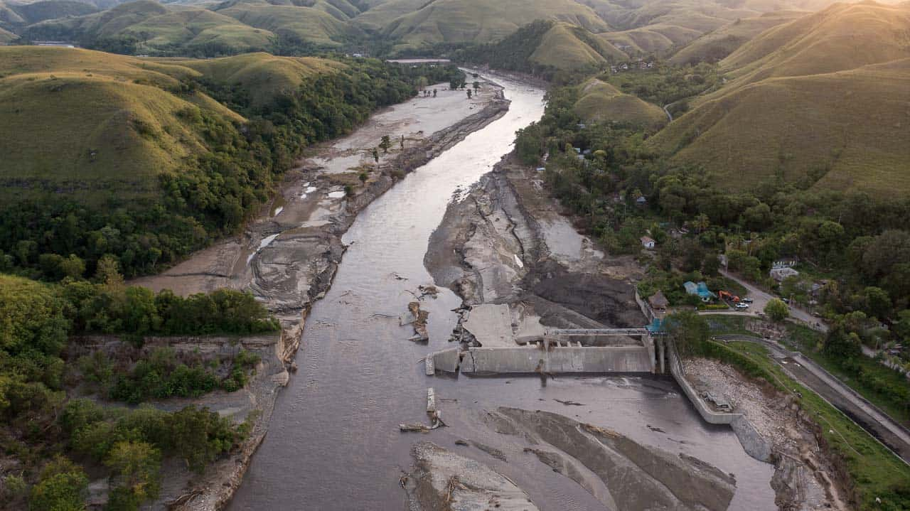 Sumba disaster, the dam no longer exists
