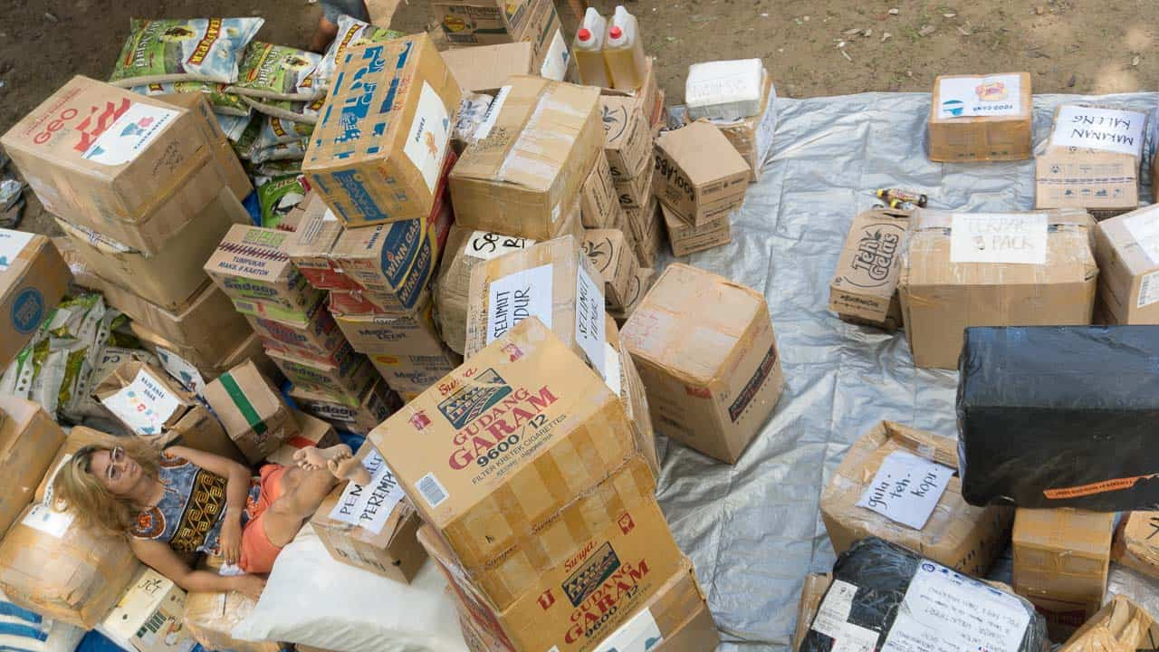 Tons of vital supplies have arrived in our Base Camp in East Sumba
